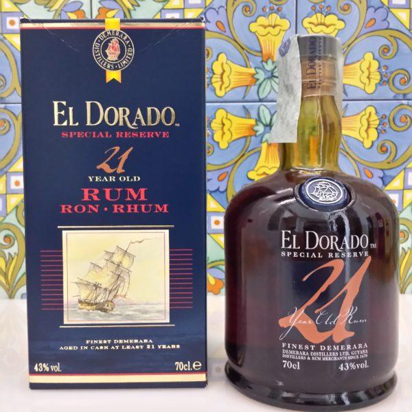 Rum Eldorado 21 Y.o.  Vol.43% cl.70