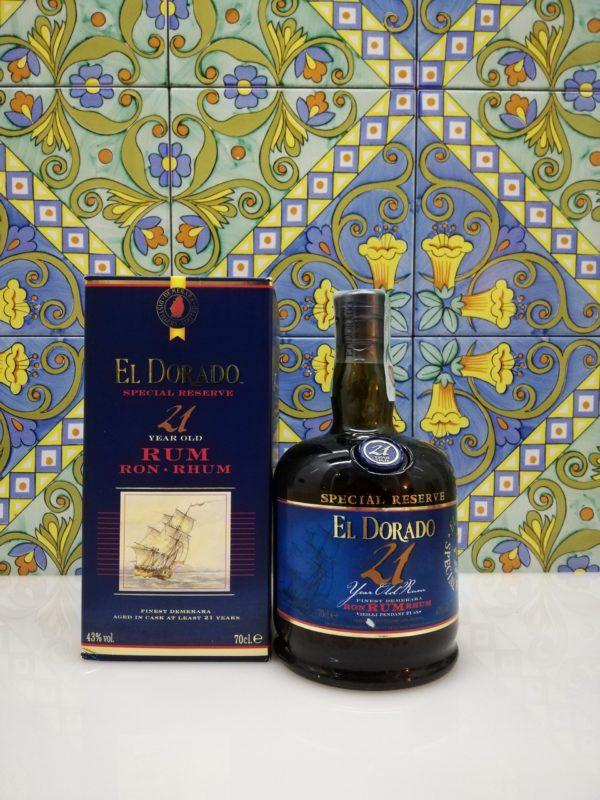 Rhum Rum El Dorado 21 Y.o.  Vol.43% cl.70