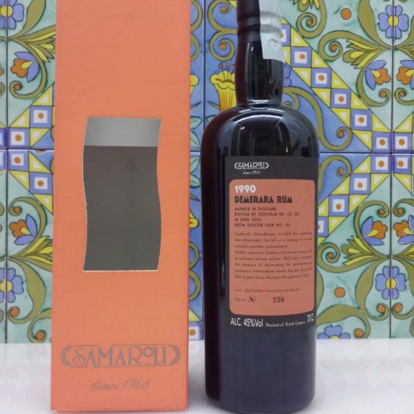 Rum Demerara  Samaroli 1990 Vol.45% cl.70