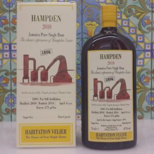Rum Habitation Hampden 2010 LROK Jamaica  Vol.67% cl.70 Velier , Bottled 2016