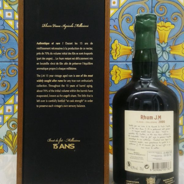 Rum J.M 2000 15 Y.o. Vol. 41,9% cl.70 Agricolè Martinique, Velier