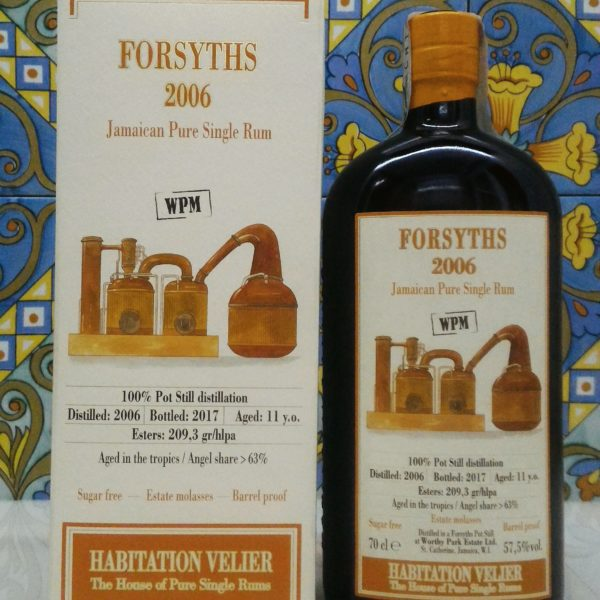 Rum Habitation Forsyths 2006 WPM Jamaica Vol.57,5% cl.70 Velier, Bottled 2017