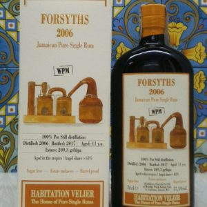 Rum Habitation Forsyths 2006 WPM Jamaica Vol.57,5% cl.70 Velier, Bottled 2017