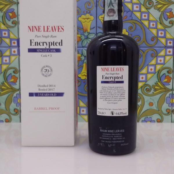 Rum Nine Leaves Encrypted Vol.64,8% cl.70, 70° Velier serie Khong