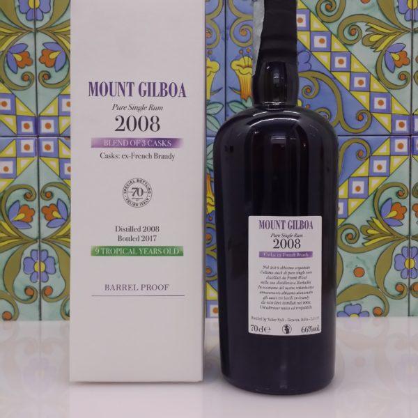 Rum Mount Gilboa 2008 Vol.66% cl.70, 70° Velier serie Khong