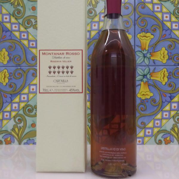 Capovilla Distillato di Vino Montanar Rosso Vol.45% cl.70, 70° Velier