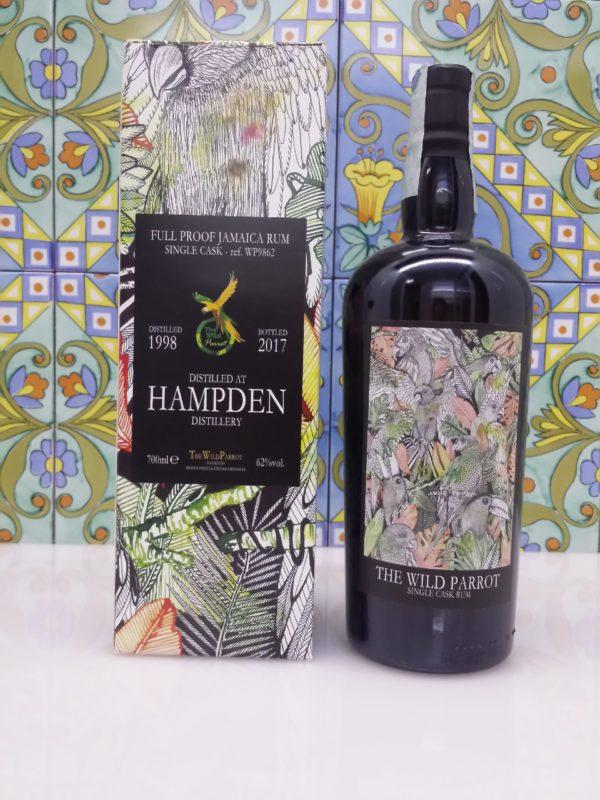 Rum Hampden 1998 The Wild Parrot  Sigle Cask Vol.62% cl.70 Bottled 2017