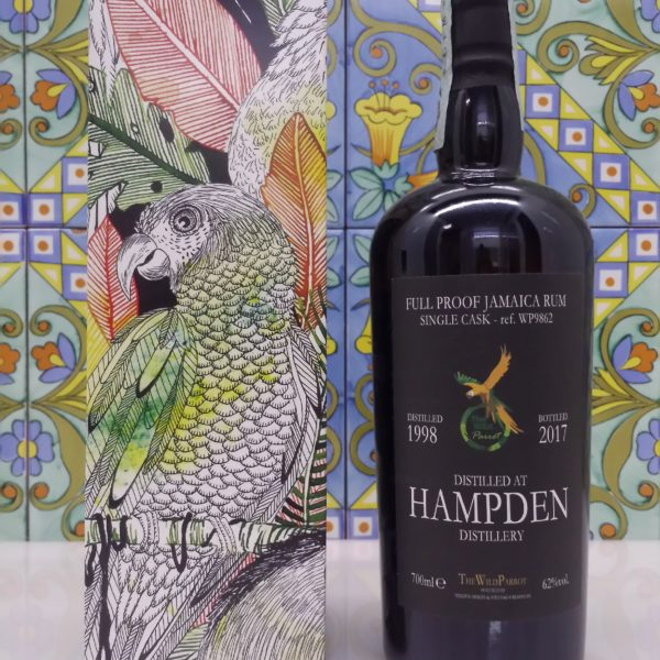 Rum Hampden 1998 The Wild Parrot  Sigle Cask Vol.62% cl.70 Bottled 2017