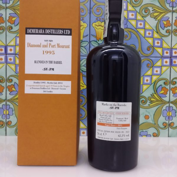 Rum Demerara Diamond and Port Mourant 1995 19 Y.o Vol.62,1% cl.70 Velier