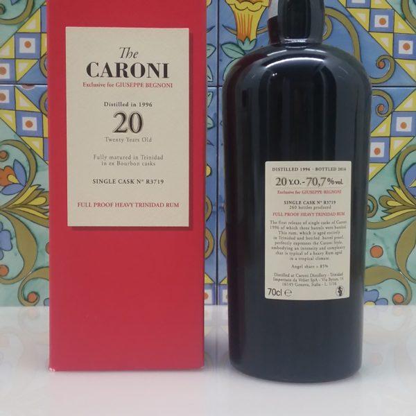 "Rum Caroni "" Begnoni"" 20 Y.o. Single Cask Vol.70,7% cl.70 Velier"