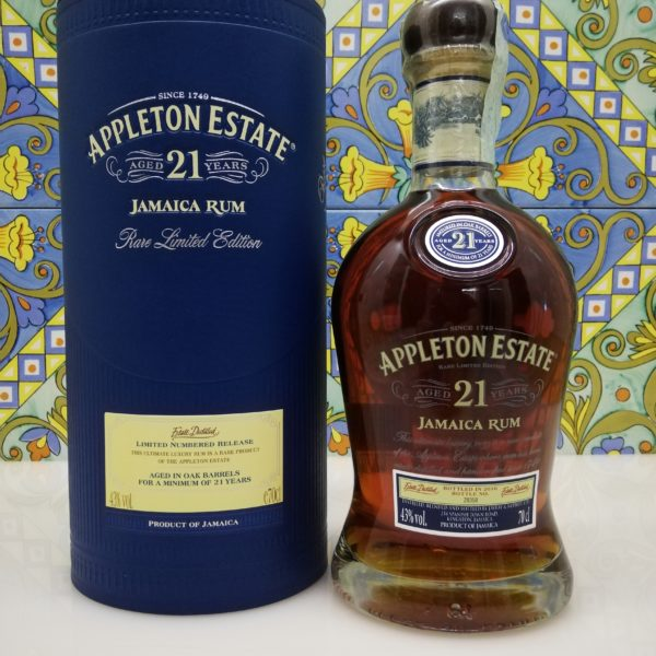 Rum Appleton Estate 21 Y.o Vol.43% cl.70 Jamaica Rum bottled 2016