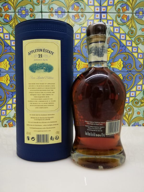 Rum Appleton Estate 21 Y.o Vol.43% cl.70 Jamaica Rum bottled 2016