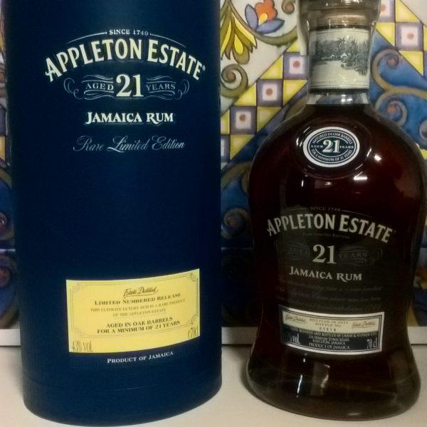 Rum Appleton Estate 21 Y.o Vol.43% cl.70 Jamaica Rum