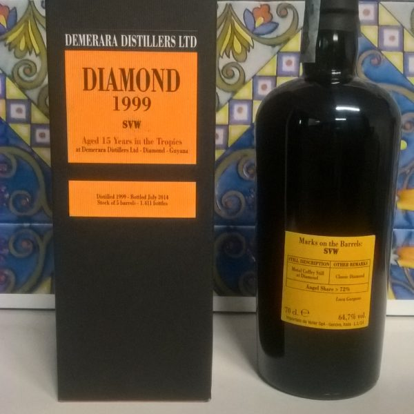 Rum Demerara Diamond 1999 15 Y.o Vol.64,7% cl.70  Velier (SVW)