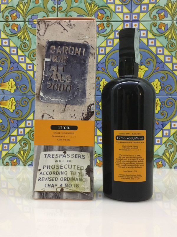 Rum Rhum Caroni 2000 17 Y.o Vol.68,4% Full Proof Single Cask cl.70
