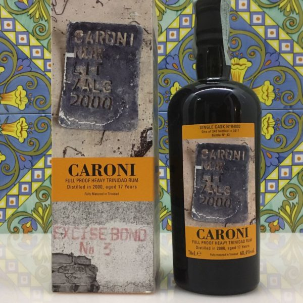 Rum Rhum Caroni 2000 17 Y.o Vol.68,4% Full Proof Single Cask cl.70