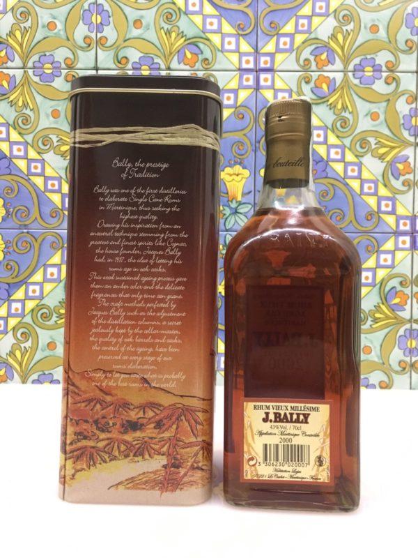 Rum Rhum J.Bally 2000 Vol.43%  cl.70 Agricole Martinique Velier