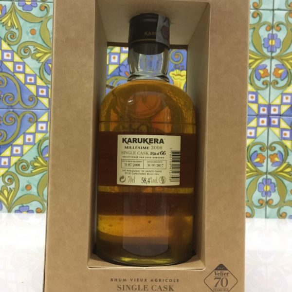 Rum Rhum Karukera 2008 Vol.58,4% Single Cask 70° Velier cl.70