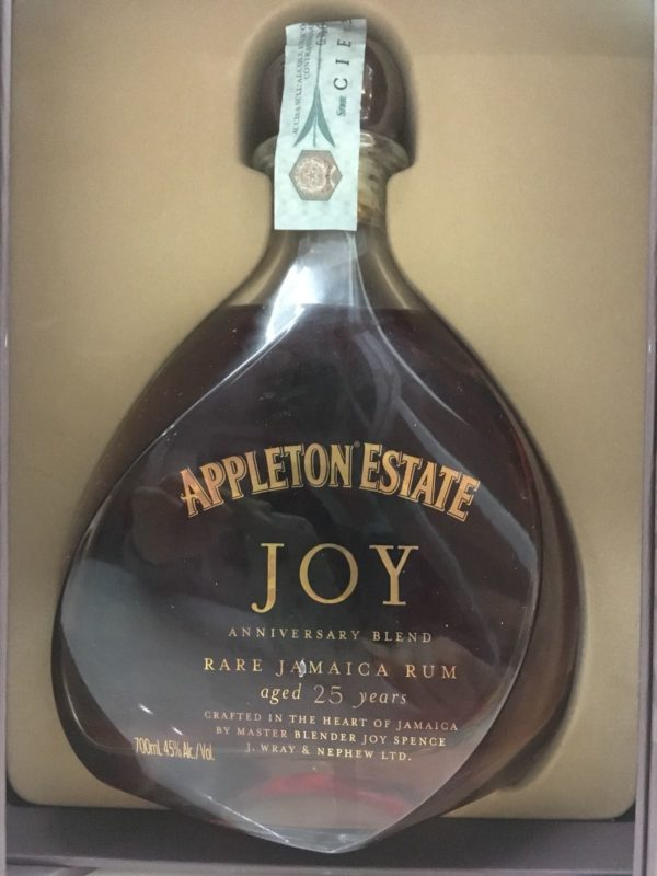 Rum Appleton Estate JOY 25  Y.o Vol.45% Rare Jamaica Rum cl.70