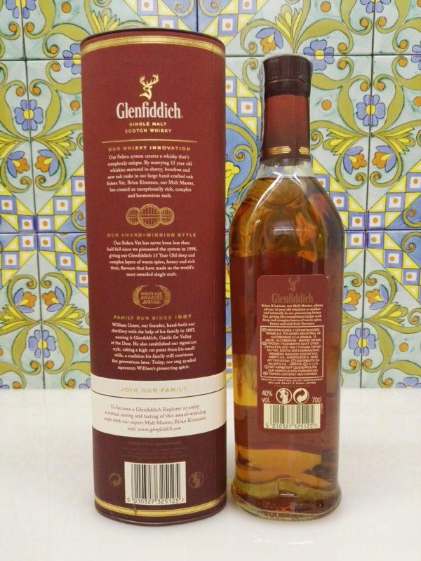 Whisky Glenfiddich 15 Y.o. Single Malt Vol.40% Cl.70