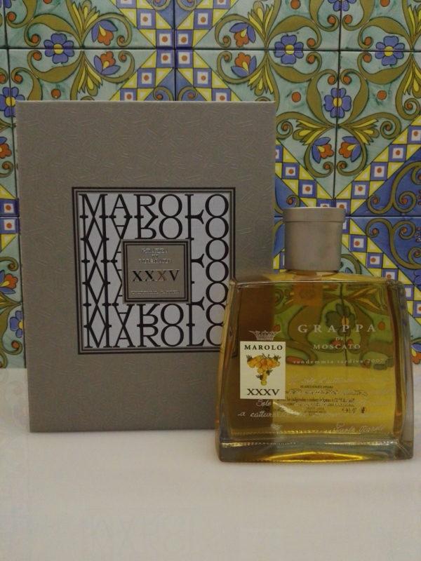 Grappa di Moscato Marolo XXXV anniversario Vol.42% Cl.70