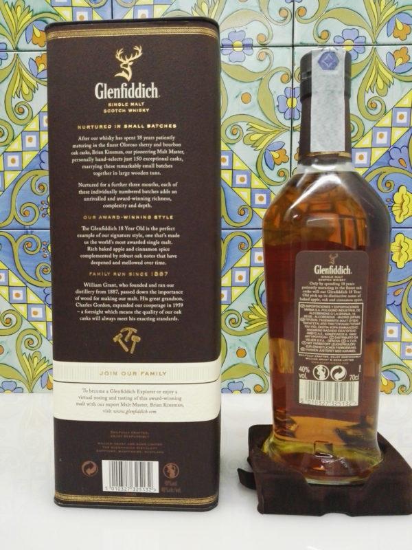 Whisky Glenfiddich 18 y.o. single malt Vol. 40% Cl.70