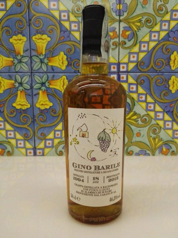Grappa Gino Barile 18 anni Vol.46,8%  Cl.50