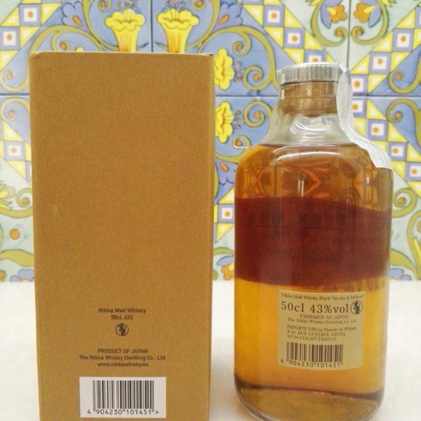 """Whisky Nikka Black """"Smoky & Mellow"""" Pure Malt Vol.43% Cl.50"""