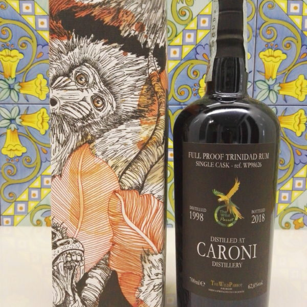 Rum Caroni 1998 The Wild Parrot  20 Y.o Vol.62,6% cl.70 Single Cask – WP98626