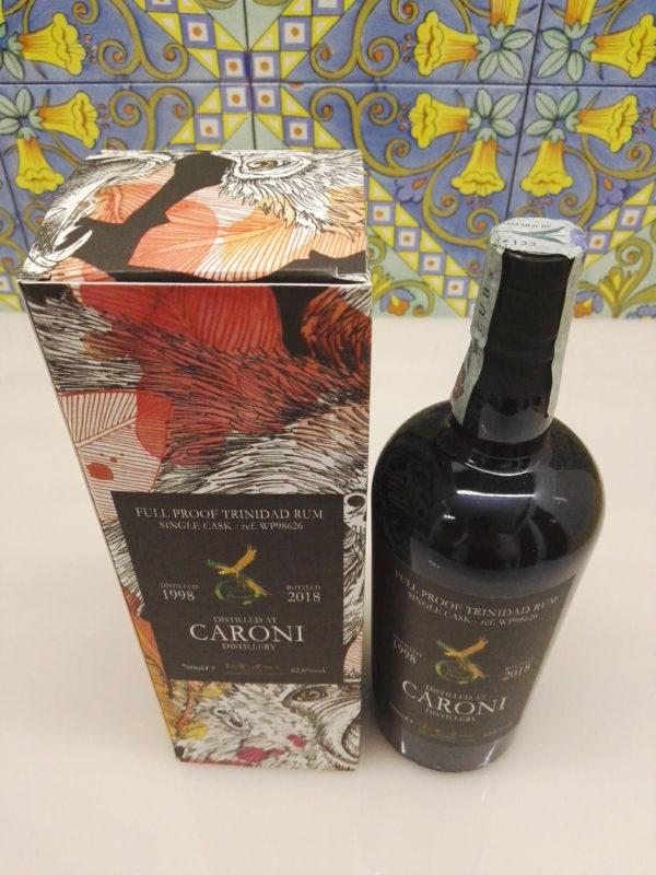 Rum Caroni 1998 The Wild Parrot  20 Y.o Vol.62,6% cl.70 Single Cask – WP98626