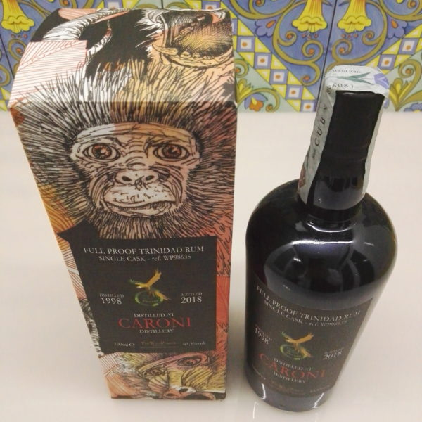 Rum Caroni 1998 The Wild Parrot  20 Y.o Vol.63,5% cl.70 Single Cask – WP98635
