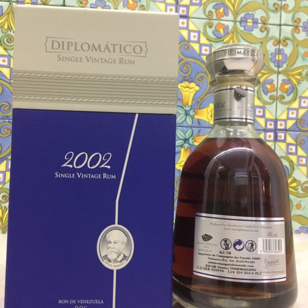 Rum Rhum Diplomatico 2002 Vol.43% cl.70 Single Vintage Rum