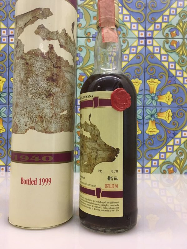 Rum Jamaica Martinica Guyana 1940 Vol.40% cl.70 Bottled 1999 only 180 bot. – Moon Import