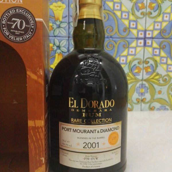 Rum El Dorado Port Mourant & Diamond 2001  16Y.o Vol.54,3% cl.70 – 70°Velier