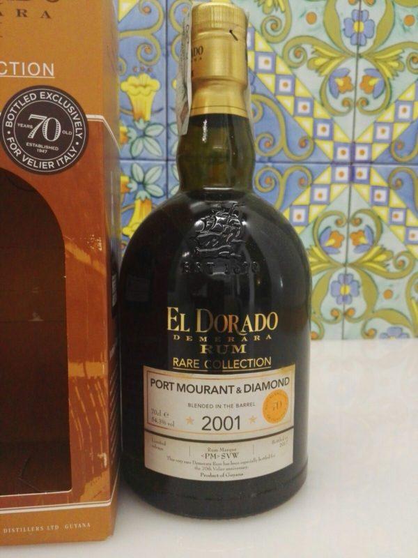 Rum El Dorado Port Mourant & Diamond 2001  16Y.o Vol.54,3% cl.70 – 70°Velier
