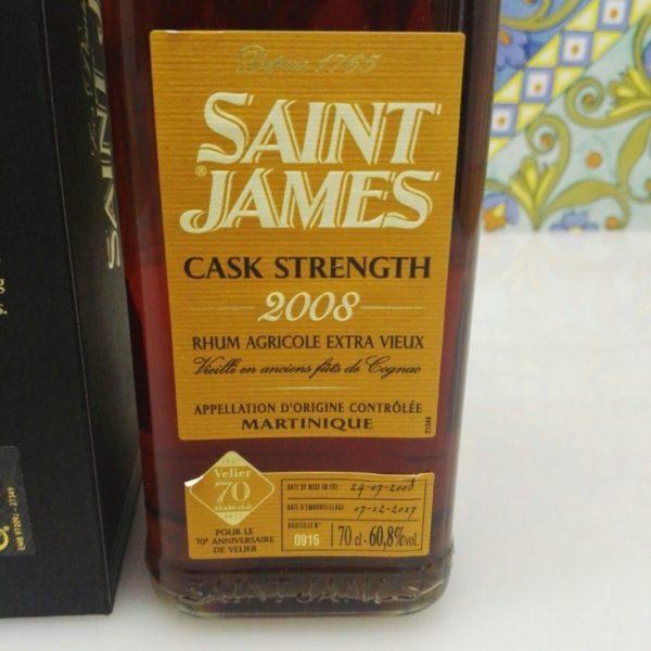 Rum Rhum Saint James 2008 Vol.60,8% cl.70  Agricole Martinique – 70°Velier