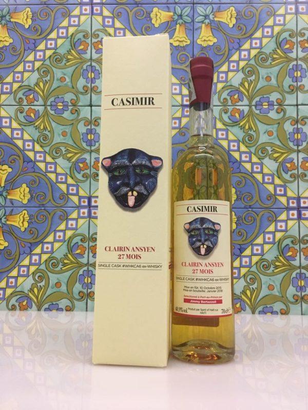 Rum Clairin Casimir Ansyen 27 mois Single Cask # WHKCA6 ex Whisky Vol 48,9% Cl 70