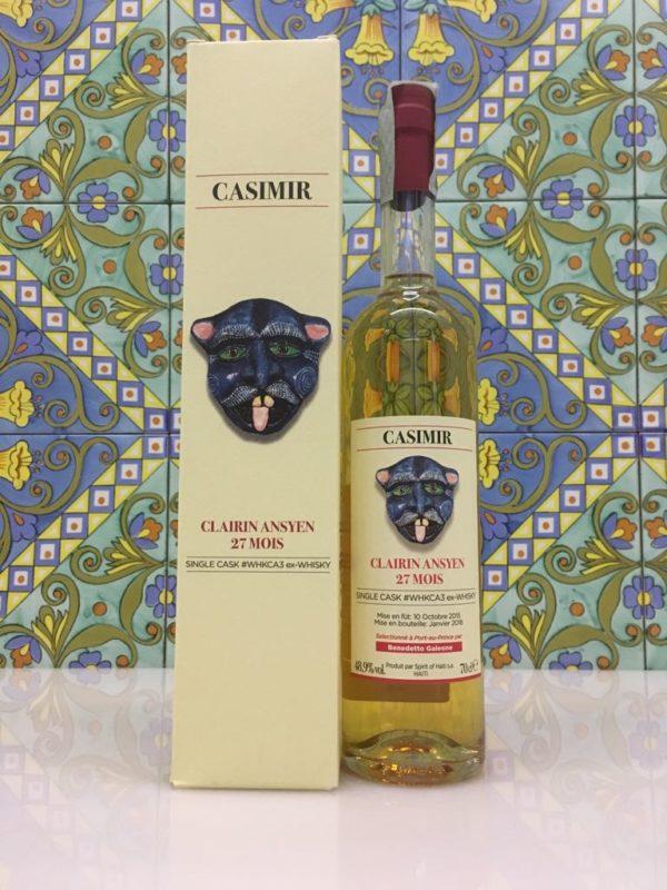 Rum Clairin Casimir Ansyen 27 mois Single Cask # WHKCA3 ex Whisky Vol 48,9% Cl 70