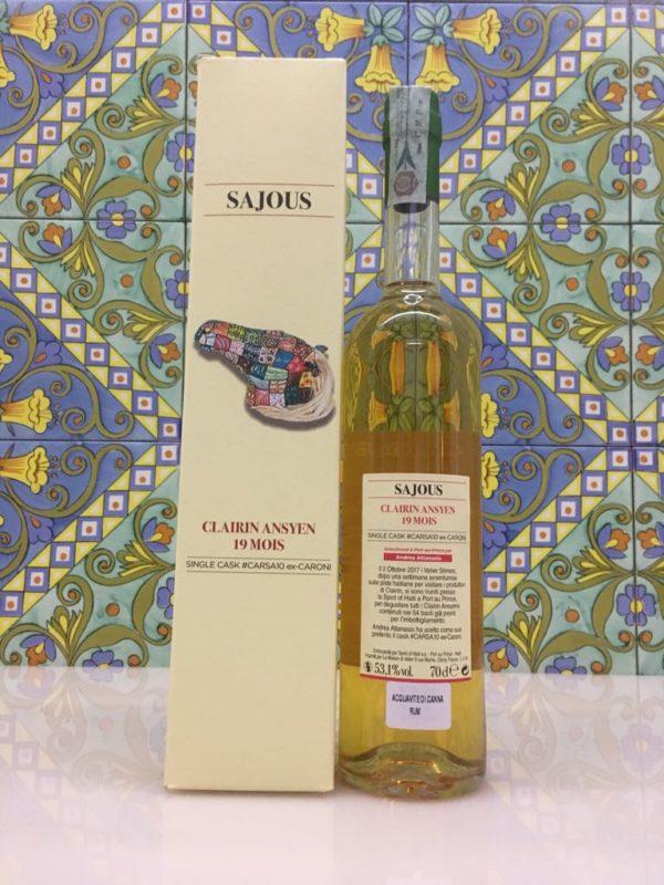 Rum Clairin Sajous Ansyen 19 mois Single Cask # CARSA10 ex Caroni Vol 53,1% Cl 70