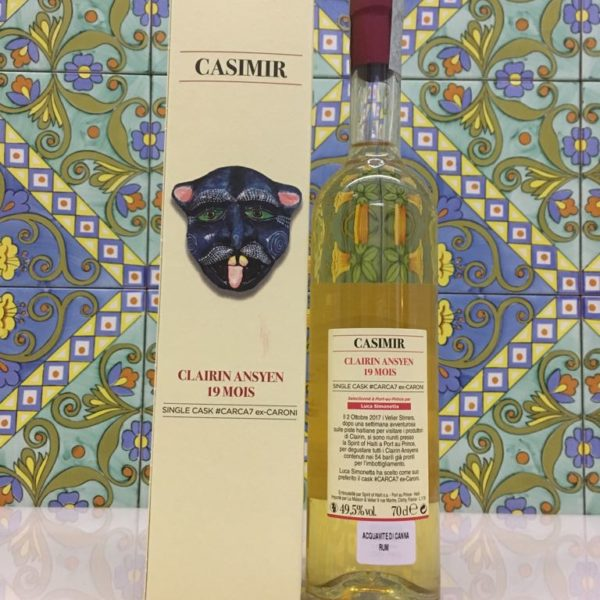 Rum Clairin Casimir Ansyen 19 mois Single Cask # CARCA7 ex Caroni Vol 49,5% Cl 70