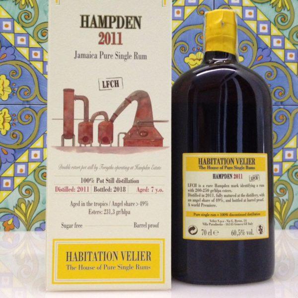 Rum Habitation Hampden 2011 LFCH Jamaica  Vol.60,5% cl.70 Velier , Bottled 2018