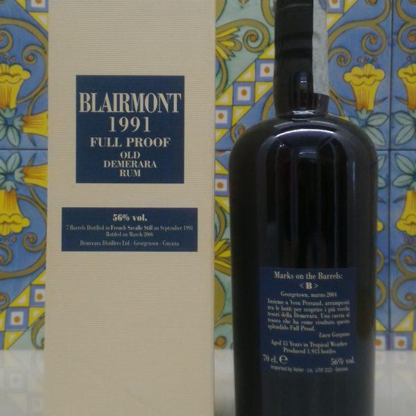 Rum Blairmont 1991 15 Y.o. Demerara Distillery by Velier Vol.56% cl.70