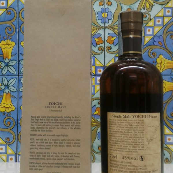 Whisky Yoichi Nikka 15 Y.o. Single Malt Vol.45 % cl.70