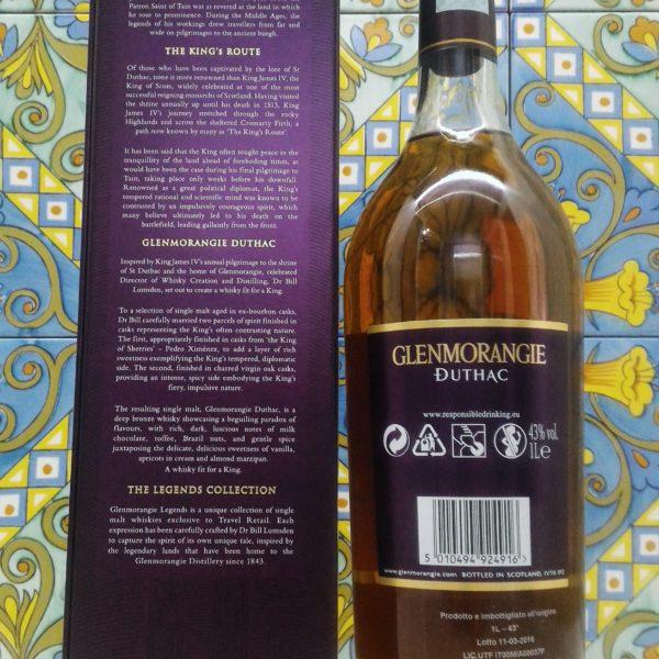 Glenmorangie The Duthac Single Malt Whisky Vol.43%  1L