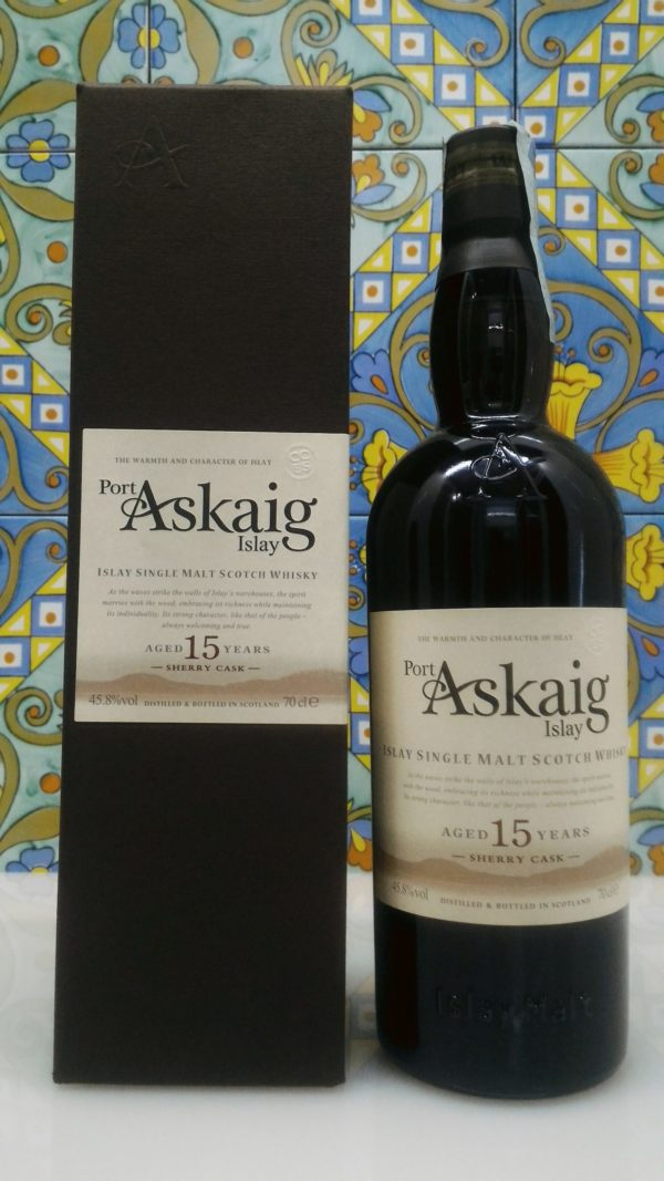 "Port Askaig Islay Single Malt Scotch Whisky 15 Years Old ""Sherry Cask"" Vol.45.8 cl.70"