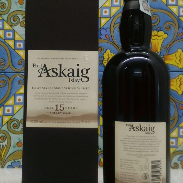 "Port Askaig Islay Single Malt Scotch Whisky 15 Years Old ""Sherry Cask"" Vol.45.8 cl.70"