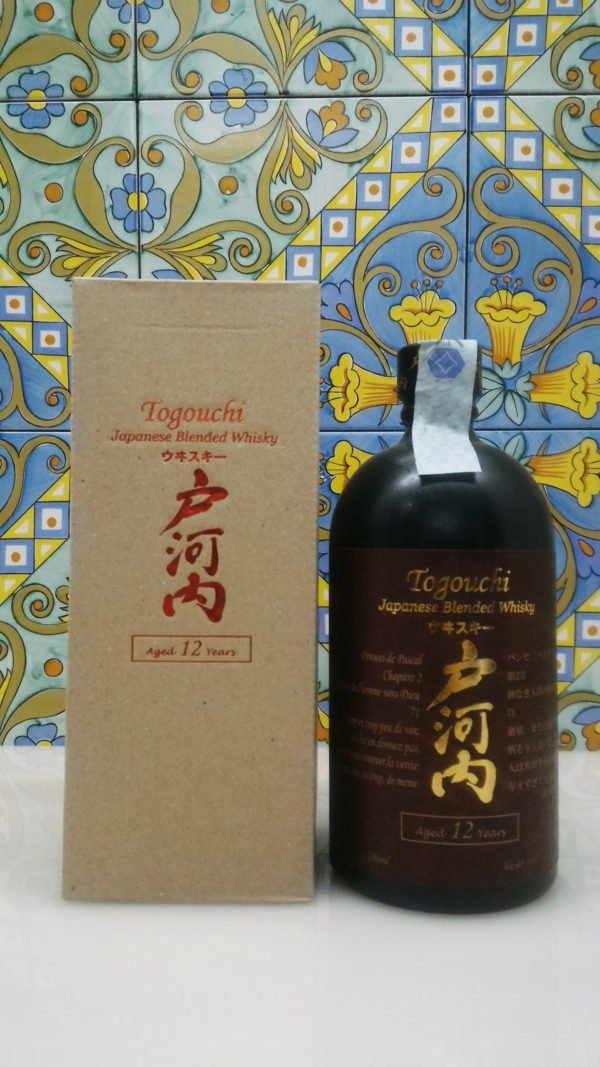 Togouchi 12 Years Japanese Blended Whisky Chugoku Jozo Distillery Vol.40% cl.70