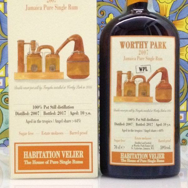 Rum Habitation Velier Worthy Park 2007 Jamaica Vol 59% Cl. 70