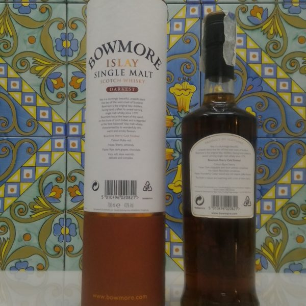 "Bowmore 15 Year Old ""Darkest""-  vol 43% cl 70"