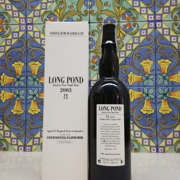 Jamaica Pure single Rum long Pond 2003- 15 Y.O. vol 63% cl 70